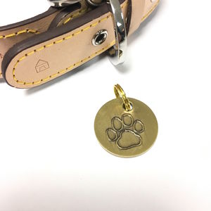 Personalised Antique Gold Pet Tag - dogs