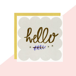'Hello' Any Occasion Card