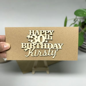 Personalised 30th Birthday Card Keepsake