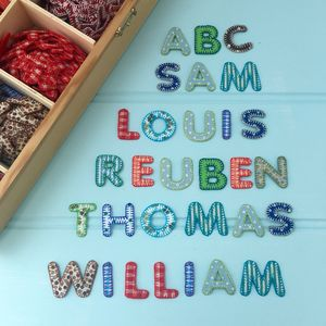 Alphabet Patchwork Iron On Letters - home accessories