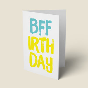 'Bff' Birthday Card