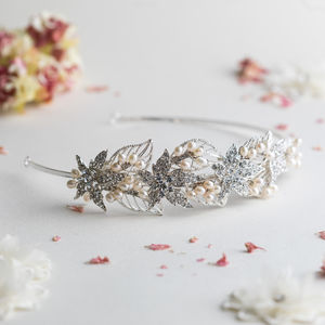 Nancy Crystal And Pearl Headband