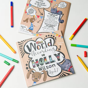 'The World According To…' Personalised Child's Journal - gifts for children