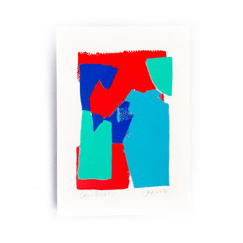 Red Blue Colour Block Limited Edition Screen Print