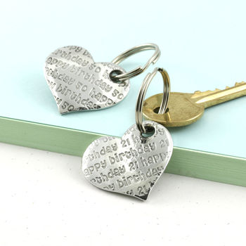Birthday Gift Pocket Heart Keyrings