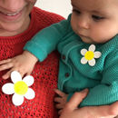 Mummy And Me Daisy Badge Mother's Day Card