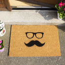 Moustache And Glasses Design Doormat