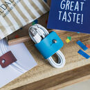 Personalised Leather Cable Organiser Tie