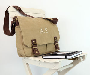 Personalised Vintage Canvas Satchel - gifts for teenagers