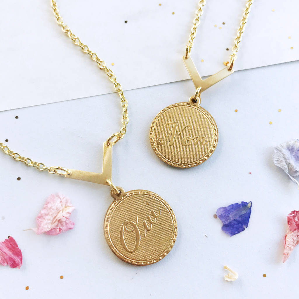 Oui And Non Reversible Decision Necklace