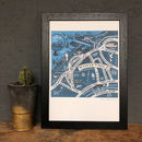 Map Of Whitstable Signed Print