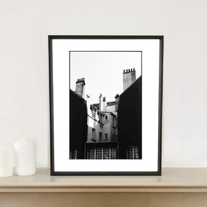 Chimney Stacks, Granville, France Art Print