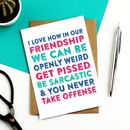Celebration Of Weird Friendship Greeting Card