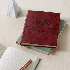 Go Your Own Way Leather Personalised Notebook