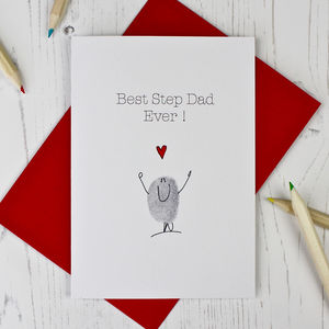 Best Step Dad Ever Card - father's day cards