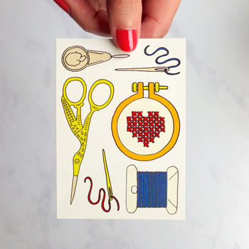 Sewing temporary tattoos