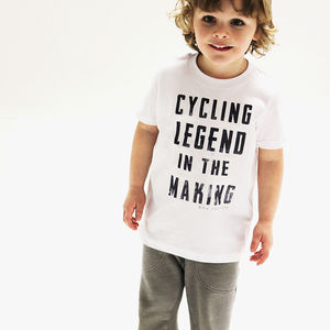 'Cycling Legend In The Making' Kids Tshirt - gifts: under £25
