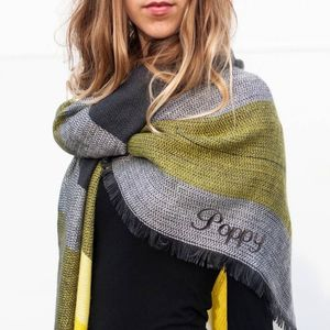Woven Blanket Scarf In A Choice Of Colours - new season scarves