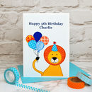 Large A5 size Childrens Birthday Card, personalised with your own wording