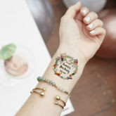 Floral Wreath Hen Party Temporary Tattoo - health & beauty