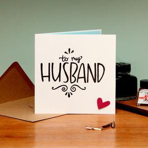 To My Husband Card - winter sale