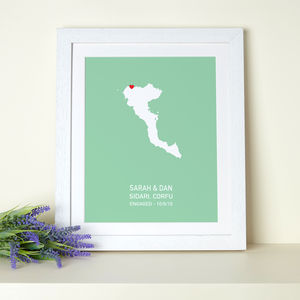 Greek Islands Personalised Print