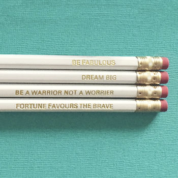 Inspirational Quote Pencil Set