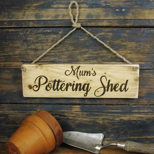 Personalised Potting Shed Sign