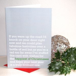 'Happiest Of Christmases' Christmas Card - cards