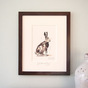 Hare Print, Bad Hare Day