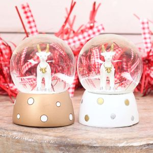 Christmas Deer Globe, White Or Gold - christmas home accessories