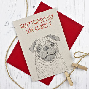 Pug Dog Mothers Day Card - mother's day cards & wrap