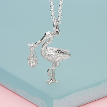 Silver Stork Necklace by Lily Charmed