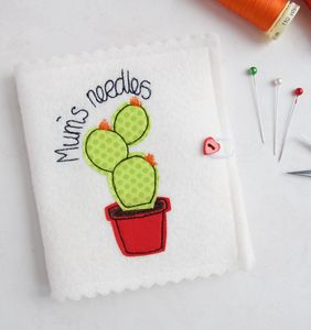 Personalised Cactus Needle Case - pin cushions