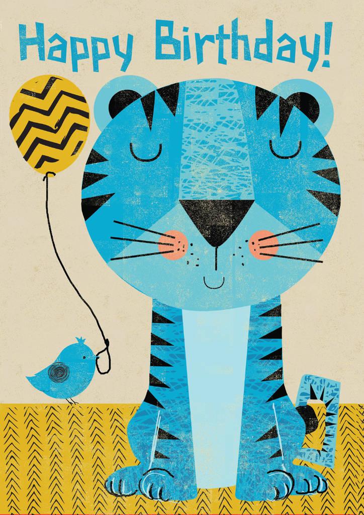 Retro Tiger Birthday Card By Rocket 68 Notonthehighstreet