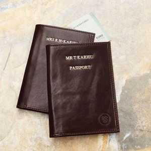 The Finest Personalised Leather Passport Holder - gifts for grandparents