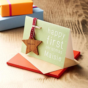 Personalised First Christmas Keepsake Card - christmas catalogue