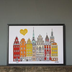 Stockholm Personalised Wedding Or Engagement Print