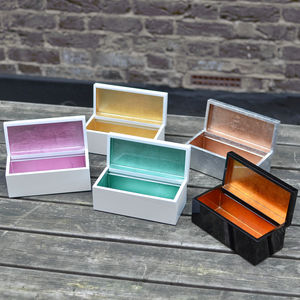 Lacquered Vanity And Jewellery Box - jewellery storage & trinket boxes