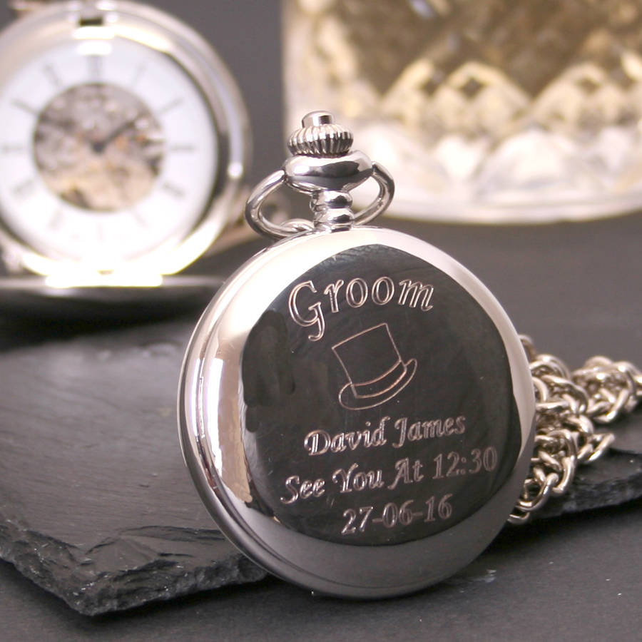 homepage > GIFTSONLINE4U > ENGRAVED WEDDING POCKET WATCH GIFT