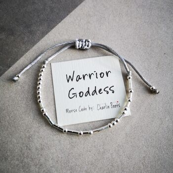 'Warrior Goddess' Morse Code Bracelet