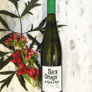 Sex, Drugs, And Rock And Roll White Wine Gift