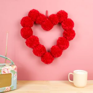 Pom Pom Heart Hanging Wall Decoration - baby's room