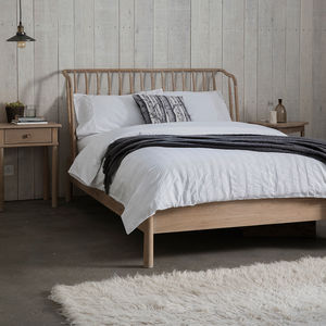 Wycombe Oak Bed Frame By Frank Hudson - furniture