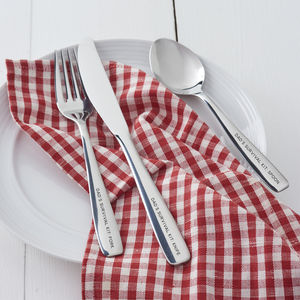 Personalised Camping Cutlery Set For Dad - summer sale