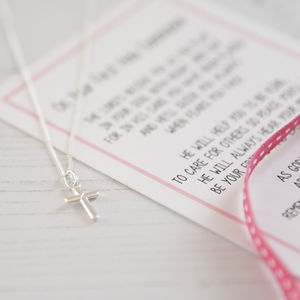 Girl's Holy Communion Necklace With Verse