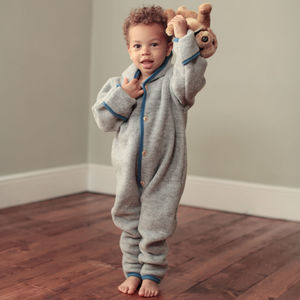 Organic Merino Wool Fleece Baby / Toddler Overall - babygrows