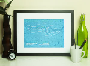 Personalised London Marathon Poster
