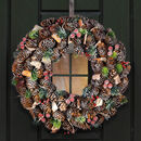 Forest Treasures Giant Christmas Pine Cone Wreath