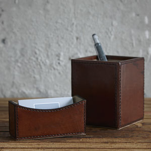 Leather Desk Set Mini - desk accessories